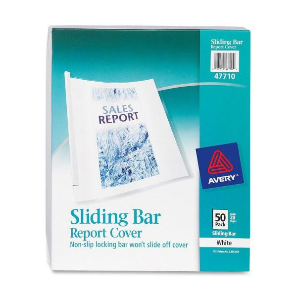 Avery Non-Slip Sliding Bar Clear Report Covers