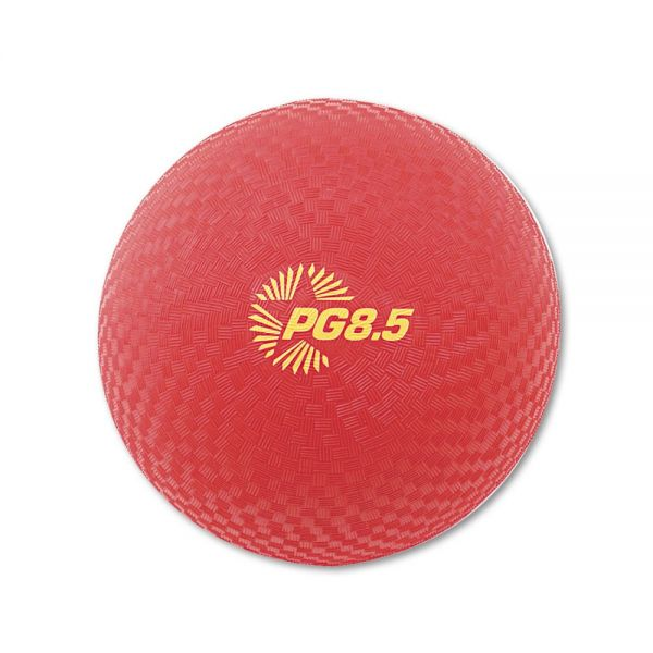 "Champion Sports Playground Ball, 8-1/2"" Diameter, Red"