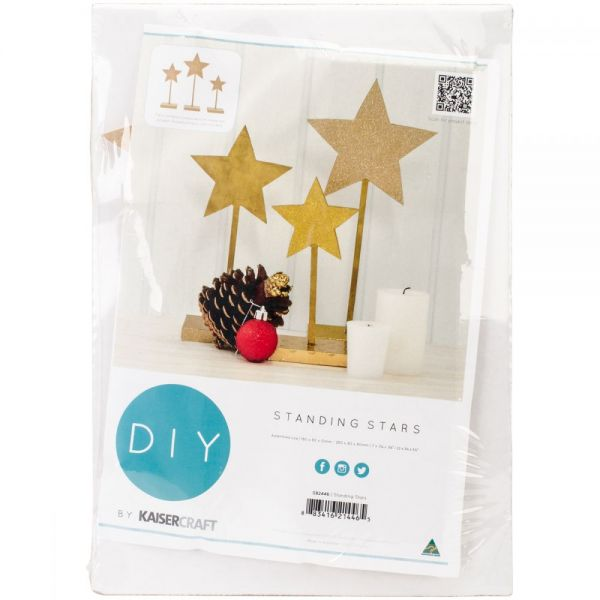 Beyond The Page MDF Standing Stars 3/Pkg