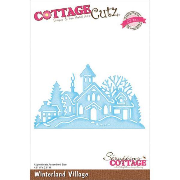 CottageCutz Elites Winterland Village Die