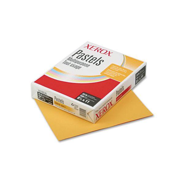 Xerox Vitality Pastel Multipurpose Paper, 20 lb, 8 1/2 x 11, Gold, 500 Sheets/Ream