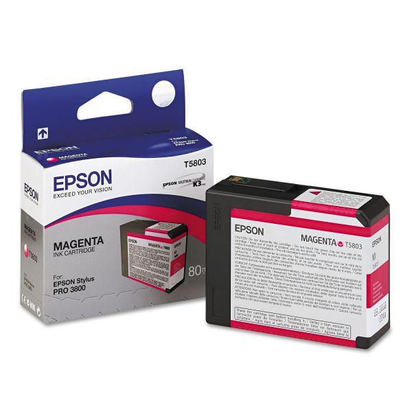 Epson T580300 UltraChrome K3 Ink, Magenta