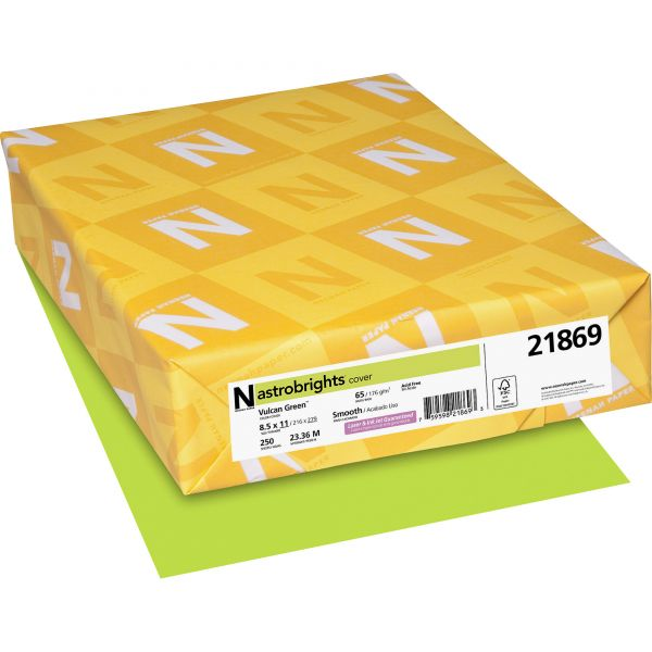 Neenah Paper Astrobrights Vulcan Green Colored Card Stock