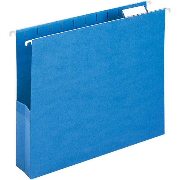 Smead 64250 Sky Blue Colored Hanging Pockets with Tab