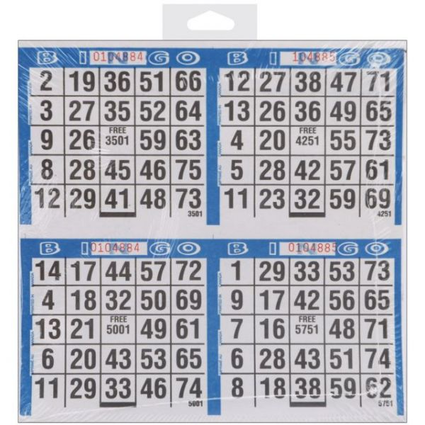 "Bingo Game Sheets 8""X8"" 125/Pkg"