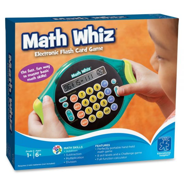 Educational Insights Math Whiz Electr Flash Card Game