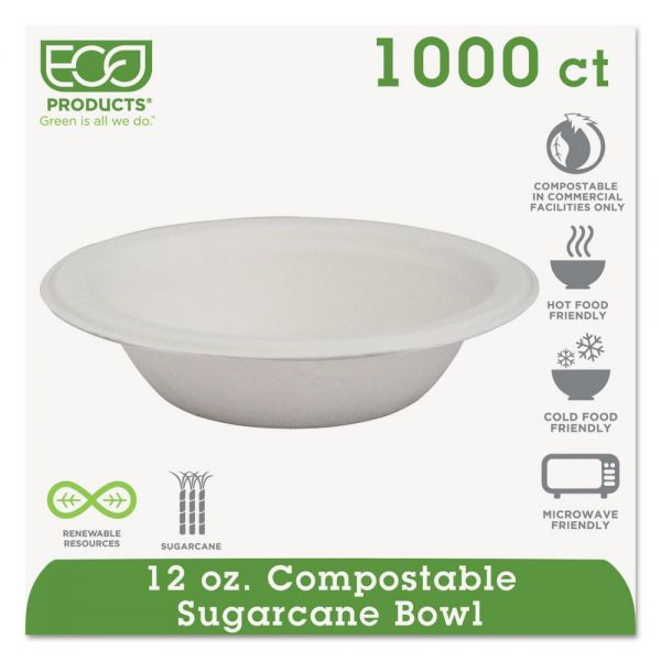 Eco-Products 12 oz Compostable Bagasse Bowls