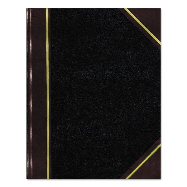 National Texthide Record Book, Black/Burgundy, 300 Green Pages, 14 1/4 x 8 3/4