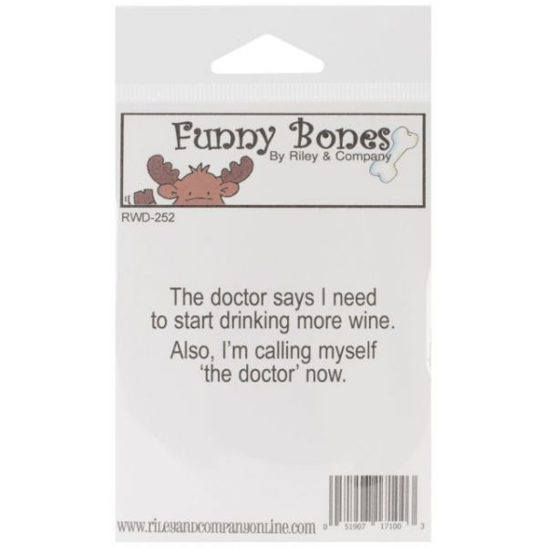 "Riley & Company Funny Bones Cling Mounted Stamp 2.5""X1"""
