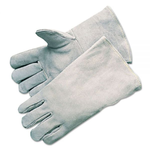 Anchor Brand Economy Welding Gloves, Cowhide, 13 1/2in Gauntlet Cuff, Large