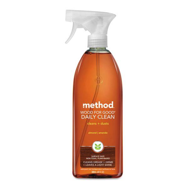 Method Wood for Good Daily Clean, 28 oz Spray Bottle, 8/Carton