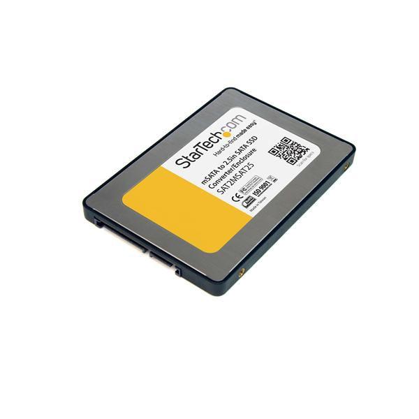 StarTech.com 2.5in SATA to Mini SATA SSD Adapter Enclosure