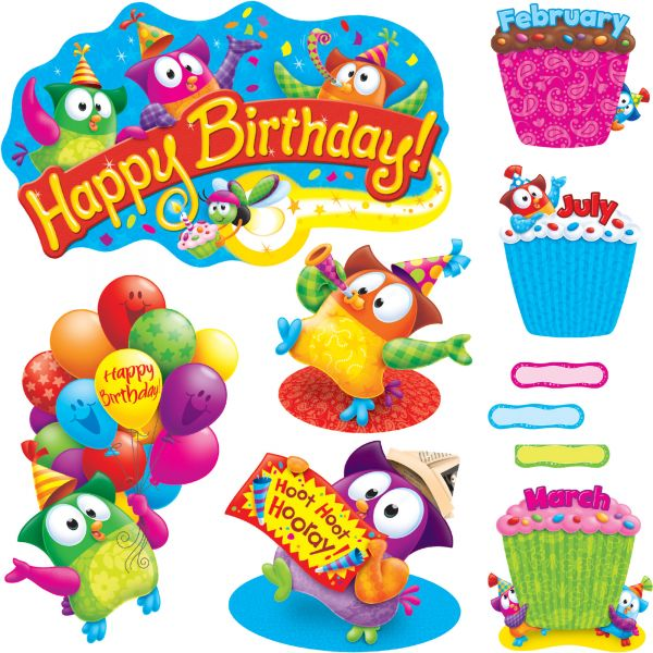 Trend Owl-Stars! Birthday Bulletin Board Set