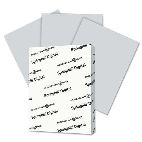 Springhill Digital Vellum Bristol 110 lb Gray Colored Cover Stock