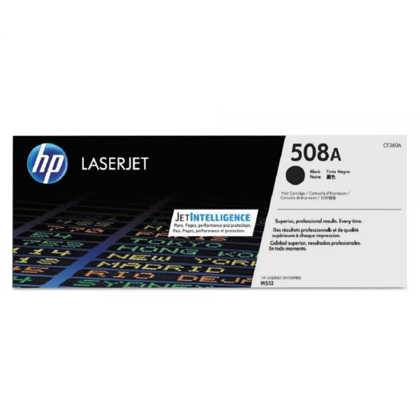 HP 508A Black Toner Cartridge (CF360A)