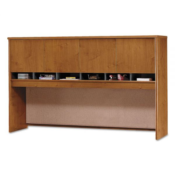 Bush Series C Collection 4 Door 72W Hutch, Box 2 of 2, Natural Cherry