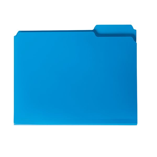 Smead Blue Colored Poly File Folders