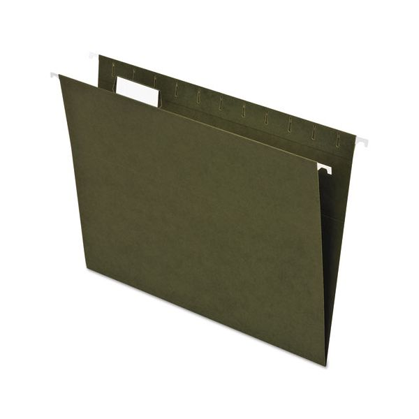 Pendaflex Earthwise by Pendaflex Recycled Hanging File Folder, 1/5 Cut, Ltr,  Green, 25/BX