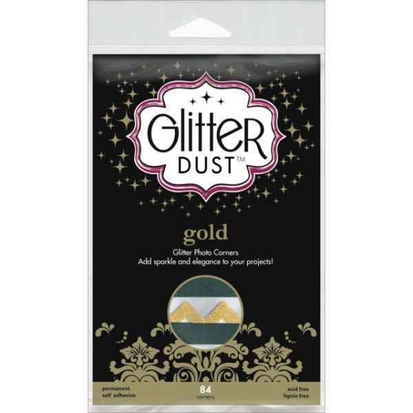 Glitter Dust Photo Corners 84/Pkg