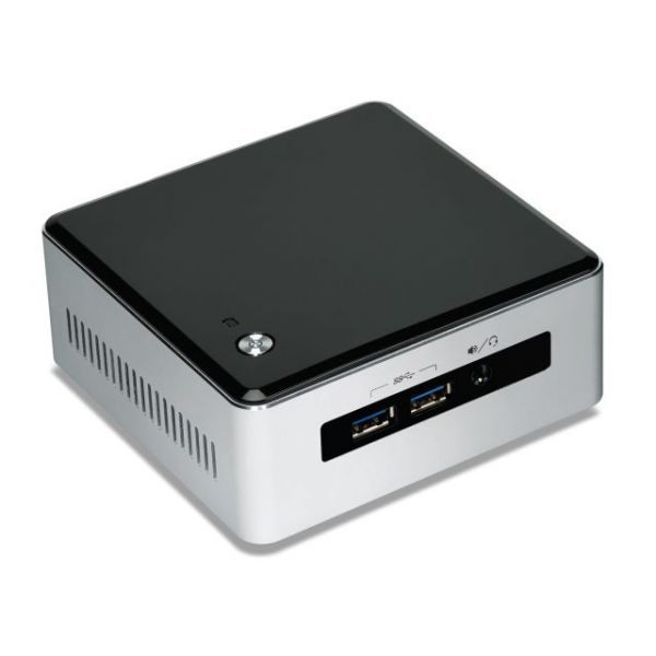 Intel NUC5I5MYHE Desktop Computer - Intel Core i5 i5-5300U 2.30 GHz - Silver, Black