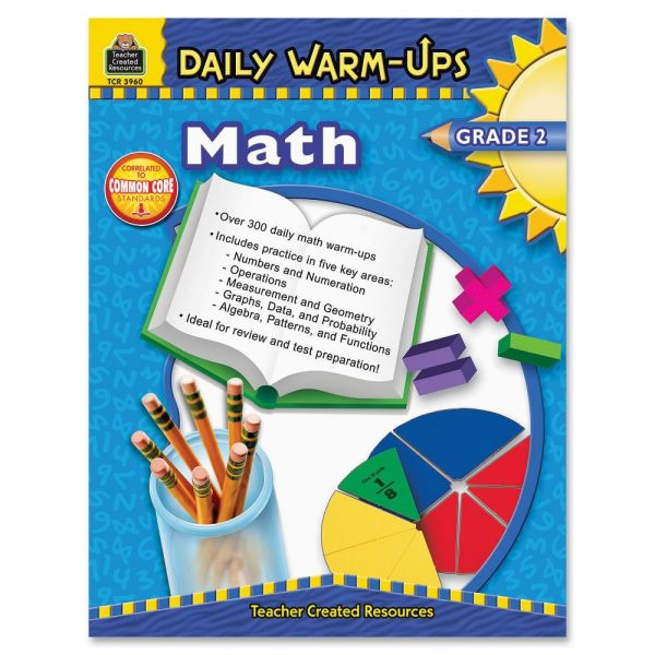 Teacher Created Resources Gr 2 Math Daily Warm-Ups Book Education Printed Book for Mathematics