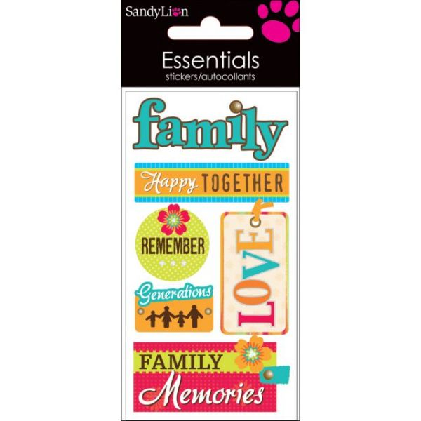 SandyLion Essentials Dimensional Stickers