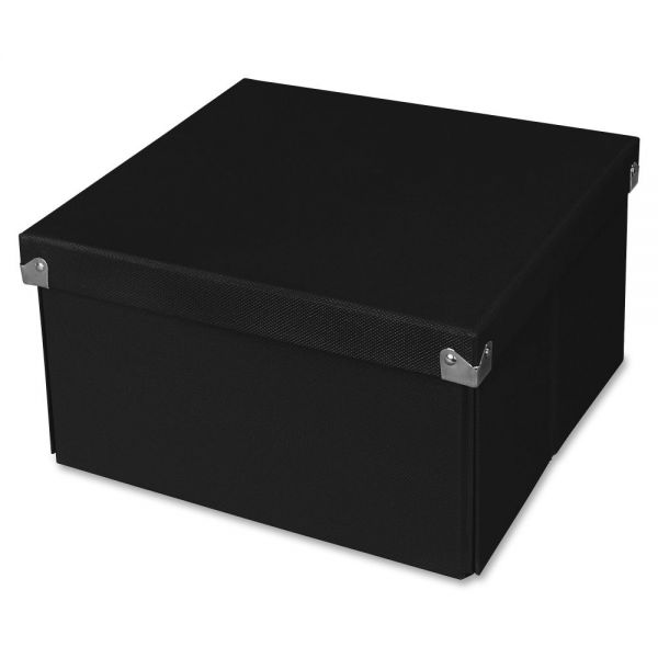 "Samsill Pop n' Store Medium Square Box - Black - 10.63""x6""x10.63"""