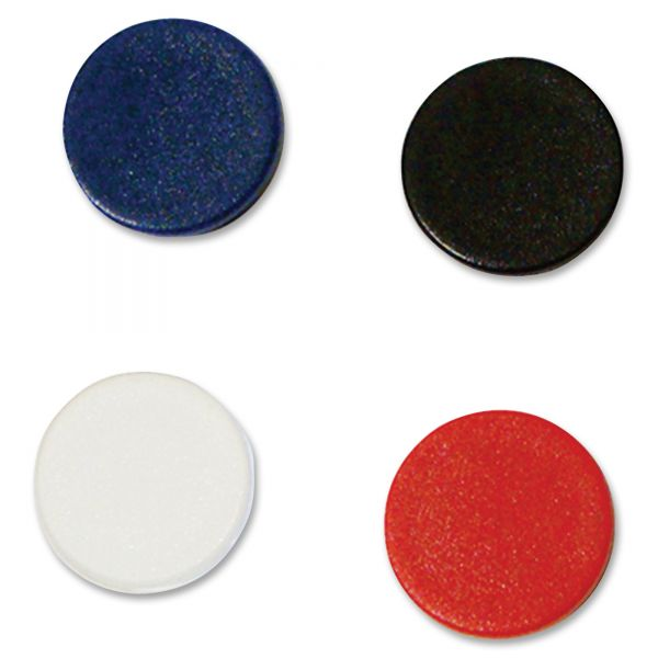 "MasterVision Interchangeable Magnetic Characters, Circles, Assorted, 7/8"" Dia, 10/Pack"