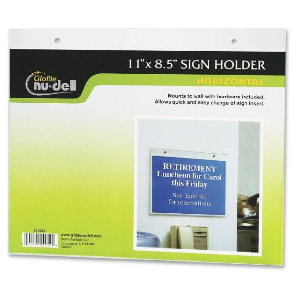 Nu-Dell Horizontal Sign Holder