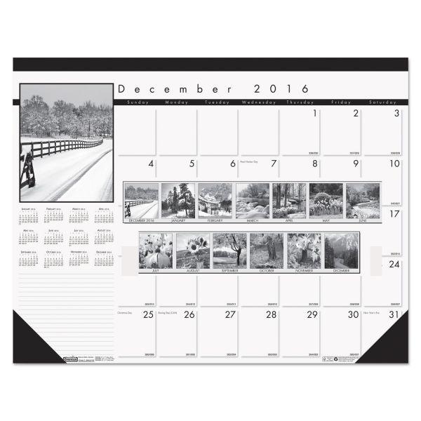 House of Doolittle Black On White Monthly Desk Pad Calendar