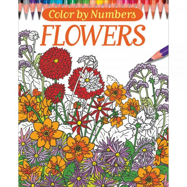 Chartwell Books: Color By Numbers - Flowers Coloring Book