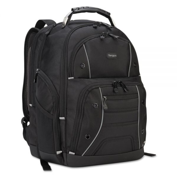 "Targus Drifter Plus with TSA Backpack, For 16"" Laptop, 13 3/4 x 8 1/8 x 17 3/4, Black"