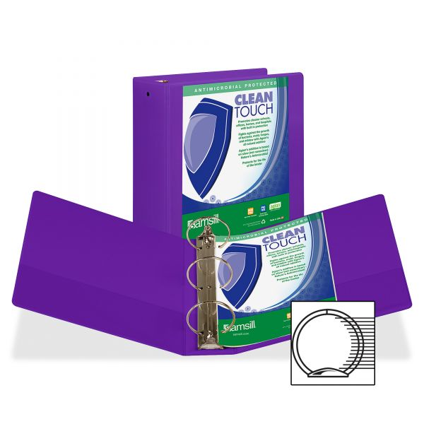 "Samsill Clean Touch 4"" 3-Ring View Binder"