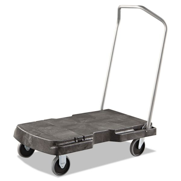 Rubbermaid Commercial Triple Trolley, 500-lb Cap, 20-1/2w x 32-1/2d x 7h, Black