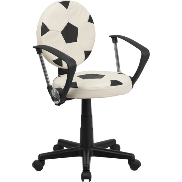 Flash Furniture Soccer Student Task Chair with Arms