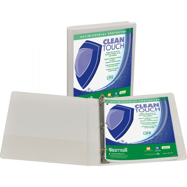 """Samsill Clean Touch 1"""" 3-Ring View Binder"""