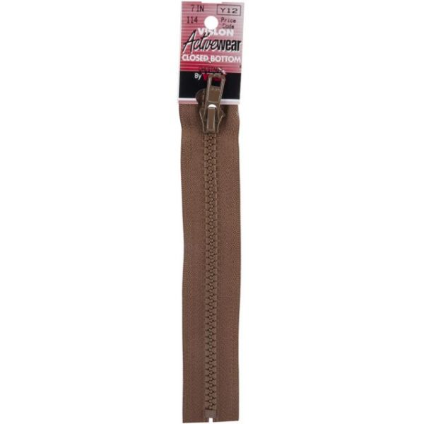 Vislon Sport Closed Bottom Zipper 7""