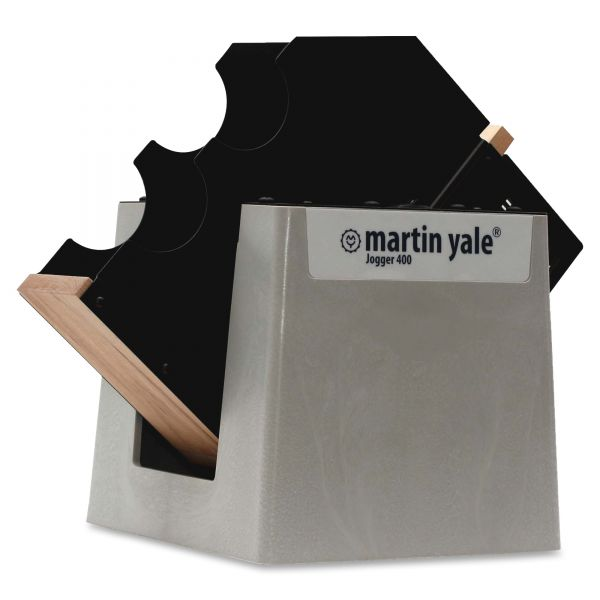 Martin Yale Tabletop Paper Jogger, 15-1/4w x 11-1/2d x 15-1/4h, Gray