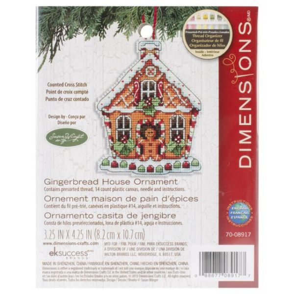 Dimensions Susan Winget Gingerbread House Counted Cross Stitch Kit