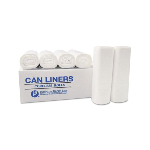Inteplast Group High-Density Can Liner, 36 x 58, 60-gal, 14 Micron, Clear, 250/Carton