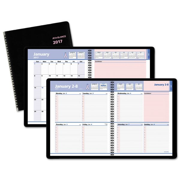 At-A-Glance QuickNotes Breast Cancer Weekly/Monthly Appointment Book