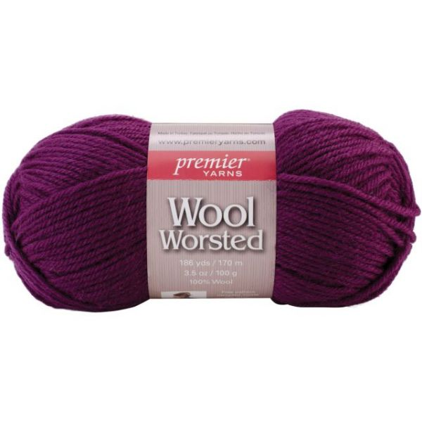 Premier Wool Worsted Yarn - Aubergine