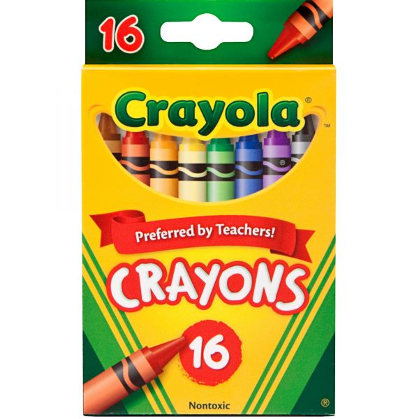 Crayola Classic Color Crayons, Peggable Retail Pack, 16 Colors