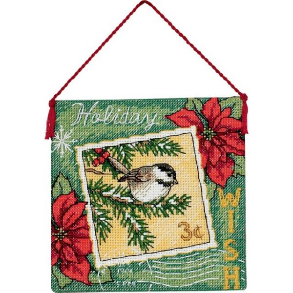 Gold Petite Wish Ornament Counted Cross Stitch Kit