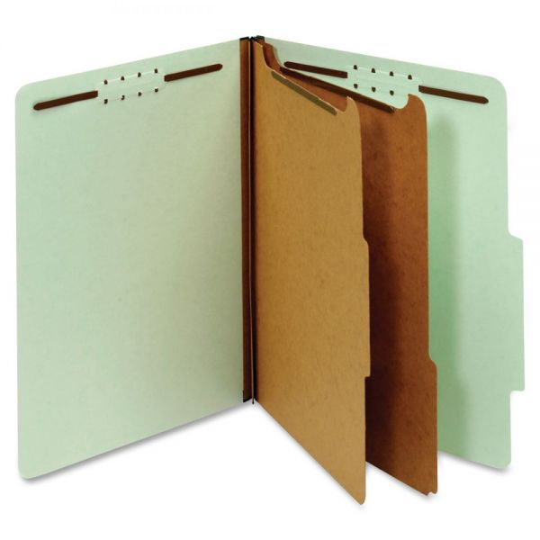 Globe-Weis Recycled Light Green Pressboard Classification Folders
