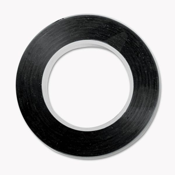 "COSCO Art Tape, Black Gloss, 1/8"" x 324"""