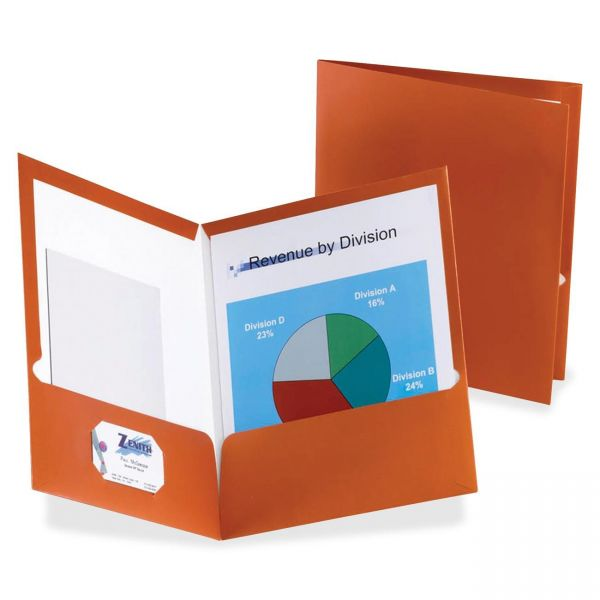 Esselte Laminated Copper Two Pocket Folders