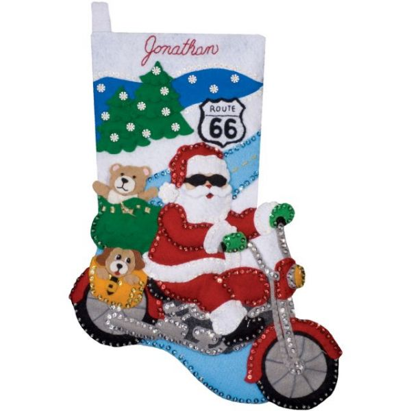 Route 66 Stocking Felt Applique Kit