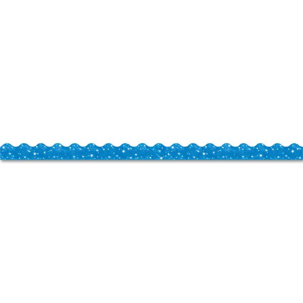 "TREND Terrific Trimmers Sparkle Border, 2 1/4"" x 39"" Panels, Blue, 10/Set"