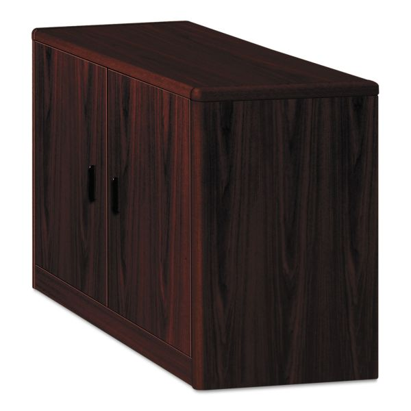 HON 10700 Series Locking Storage Cabinet, 36w x 20d x 29 1/2h, Mahogany
